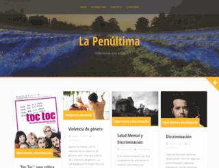 lapenultima.org screenshot