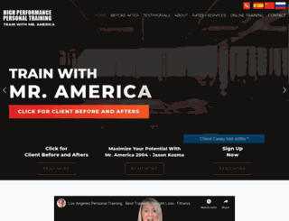lapersonaltraining.com screenshot