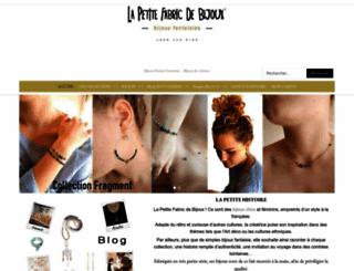lapetitefabricdebijoux.com screenshot