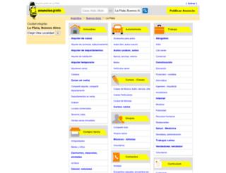laplata.anunciosgratis.com.ar screenshot