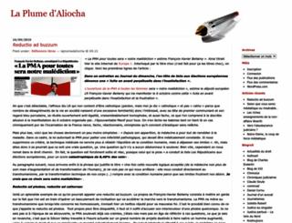 laplumedaliocha.wordpress.com screenshot