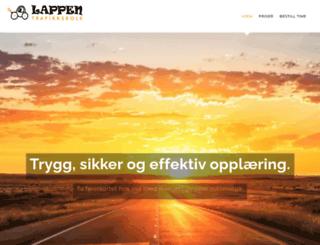 lappen-trafikkskole.no screenshot