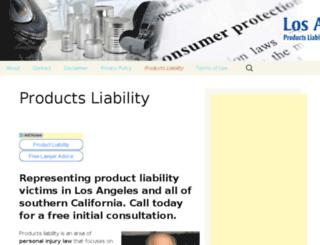 laproductliabilitylawyer.com screenshot