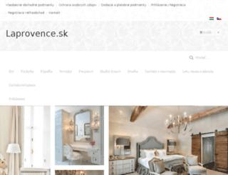 laprovence.sk screenshot