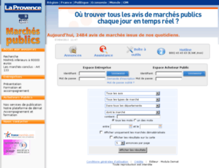 laprovencemarchespublics.com screenshot