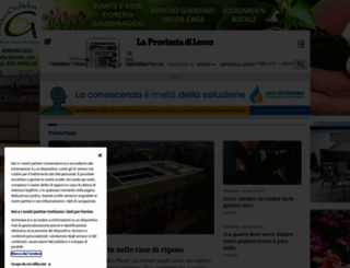 laprovinciadilecco.it screenshot