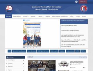 lapsekimyo.comu.edu.tr screenshot