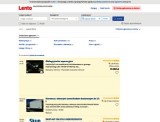 lapsze-nizne.lento.pl screenshot