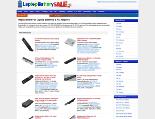 laptopbatterysale.co.uk screenshot