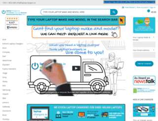 laptopchargers.ie screenshot