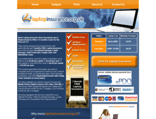 laptopinsurance.org.uk screenshot