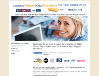 laptoprepairkewgardens.co.uk screenshot