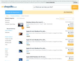laptops.shopzilla.co.uk screenshot