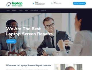 laptopscreenrepairslondon.co.uk screenshot