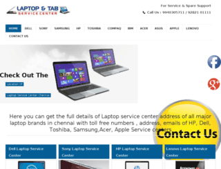 laptopservicecenter.in screenshot
