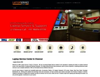 laptopservicecenterinchennai.in screenshot