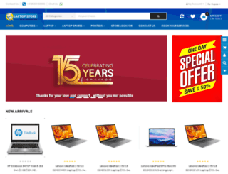 laptopstoreindia.com screenshot
