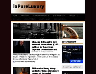 lapureluxury.com screenshot