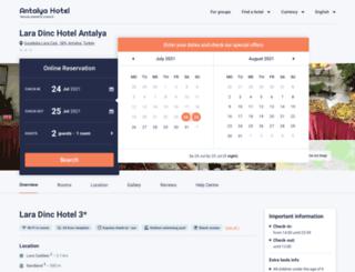 lara-dinc-hotel.antalyahotel.org screenshot