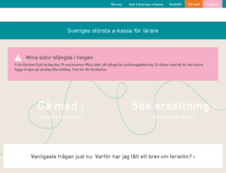 lararnasakassa.nu screenshot