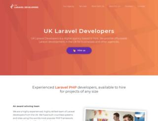 laraveldevelopers.co.uk screenshot