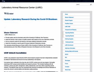 larc.ucsf.edu screenshot