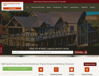 largecabinrentals.com screenshot