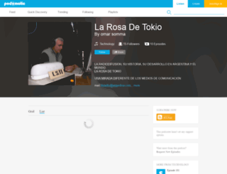 larosadetokio.podomatic.com screenshot