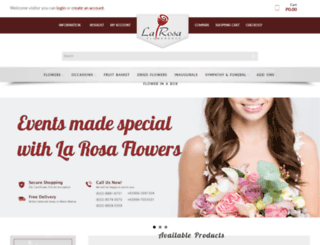 larosaflowers.com screenshot