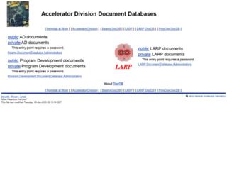 larpdocs.fnal.gov screenshot