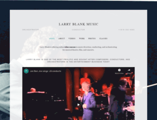 larryblankmusic.com screenshot