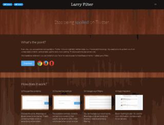 larryfilter.com screenshot