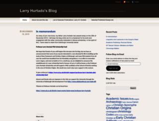 larryhurtado.wordpress.com screenshot