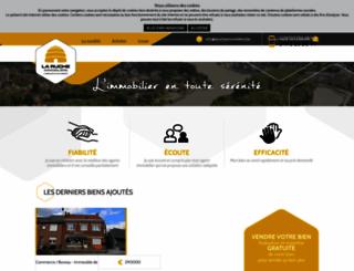 larucheimmobiliere.be screenshot