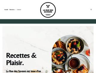 laruedessaveurs.fr screenshot