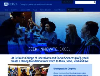 las.depaul.edu screenshot