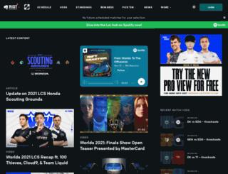 las.lolesports.com screenshot