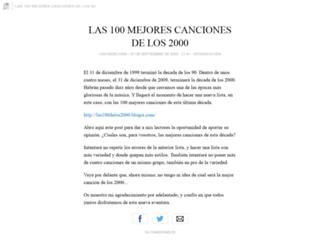 las100delos90.blogia.com screenshot