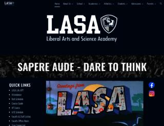 lasahighschool.org screenshot