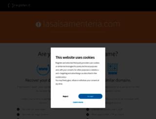 lasalsamenteria.com screenshot
