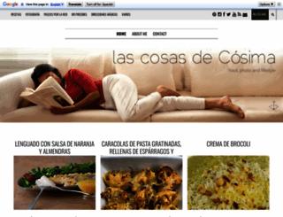 lascosasdecosima.blogspot.com.es screenshot