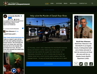 lasd.org screenshot