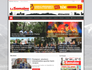 lasemaineduroussillon.com screenshot