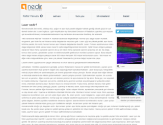 laser.nedir.com screenshot