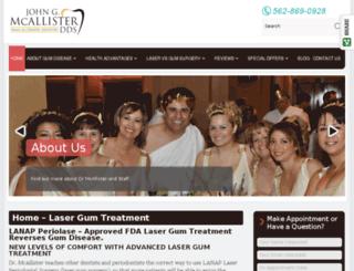 lasergumdentist.com screenshot