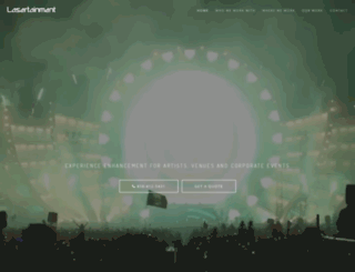lasertainment.com screenshot