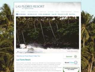 lasfloresresort.com screenshot
