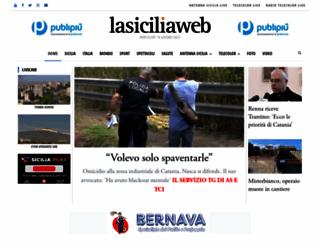 lasiciliaweb.com screenshot