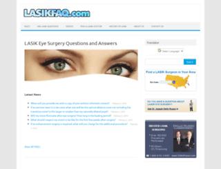 lasikfaq.com screenshot