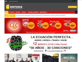 lasintesis.com.ar screenshot